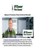 O'Connor Pest Control Service in Reseda