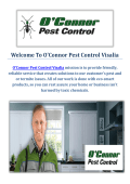O'Connor Pest Control Company in Visalia