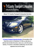 Tri County Transportation Limousine Services Charleston