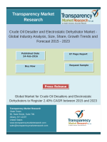 Crude Oil Desalter and Electrostatic Dehydrator Market - Global Industry Analysis, Size, Share, Growth Trends and Forecast 2015 - 2023