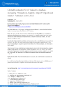 Global Multirotor UAV Industry Analysis including Production, Supply, Import/Export and Market Forecasts 2016-2021