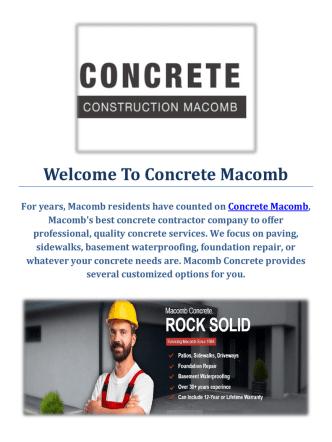 Concrete Macomb | Basement Waterproofing Service Mocomb, MI