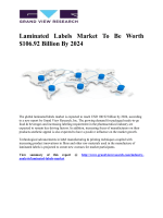 Laminated Labels Market Demand Was 49.73 Billion Meter Squares In 2015 And Is Expected To Reach 68.43 Billion Meter Squares By 2024: Grand View Research, Inc.