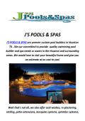 J'S POOLS & SPAS : Pool Builders In Houston