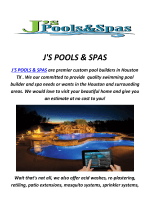 J'S POOLS & SPAS : Pool Builders In Houston