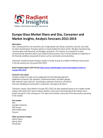Latest Report - Europe Glass Market Size, Growth Trends, 2019: Radiant Insights, Inc