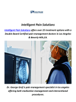 Intelligent Pain Solutions : Pain Management Clinic In Los Angeles, CA