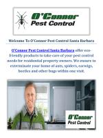 O'Connor Pest Control Service in Santa Barbara, CA