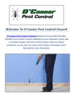 O'Connor Pest Control Company in Oxnard