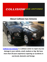 Collision Body Shops in San Antonio