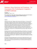 Substance Abuse Deterrents and Treatments Research Report : An Assessment of the Current Technological, Competitive and R&D Landscape