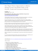 New Report Shares Opportunities in Battery Storage Inverter and Market Study of the Growth, Trends and Forecasts in Industry