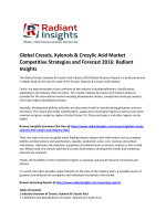 Global Cresols, Xylenols & Cresylic Acid Market Share and Forecast Report 2016: Radiant Insights