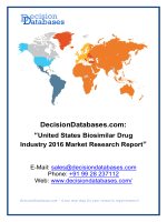 United States Biosimilar Drug Market 2016:Industry Trends and Analysis