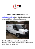 London Car Rentals Ltd : Van Rental London