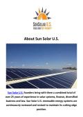 Sun Solar U.S. - Solar Electric San Diego, CA