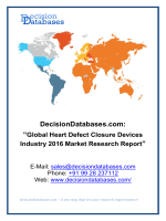 Global Heart Defect Closure Devices Market and Forecast Report 2016-2021