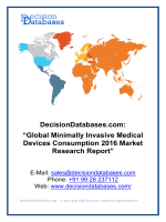 Global Minimally Invasive Medical Devices Consumption Market 2016:Industry Trends and Analysis