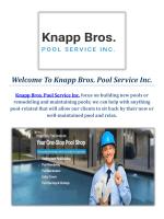 Knapp Bros. Swimming Pools Service in Macomb