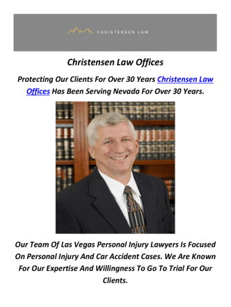Christensen Law Offices : Personal Injury Attorneys In Las Vegas
