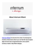 Made in Italy Miami : Internum