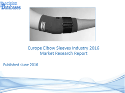 Europe Elbow Sleeves Market Forecasts to 2021