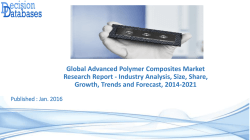 Advanced Polymer Composites Market Research Report 2014 to 2021