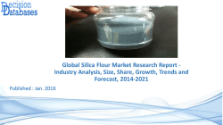 Research On Silica Flour Market - Industry Growth, Trends and Forecast, 2014 to 2021
