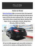 Falcon Car Rental : Ferrari Rental In Los Angeles