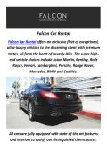 Falcon Car Rental : Ferrari Rental In Los Angeles