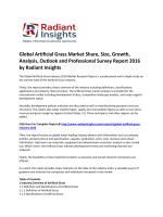 Global Artificial Grass Market Size, Global insights, Trends, Growth, Analysis Report 2016: Radiant Insights