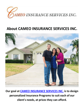 Cameo Home Insurance Services in Inglewood