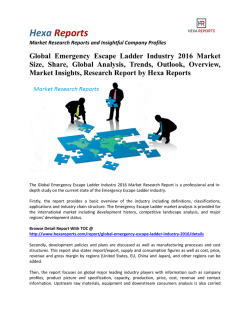 Global Emergency Escape Ladder Industry 2016 Market Insights and Overview by Hexa Reports