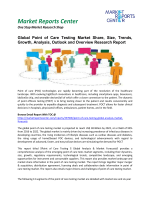 Point of Care Testing  Market Review, Outlook, Overview And Forecasts to 2020