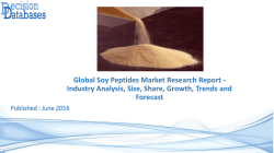 Research On Soy Peptides Market Report