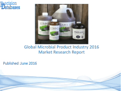 Microbial Product Market Report -  Global Industry Analysis