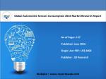 Global Automotive Sensors Consumption 2016 Market Research Report