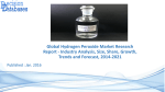 Focus On Hydrogen Peroxide Market Research Report 2014 to 2021