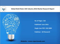 Global Multi Rotor UAV Industry Report Emerging Trends and Forecast 2021