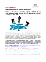1,4-Cyclohexane Dimethanol (CAS 105-08-8) Market Segmented Forecast and Outlook 2016-2021