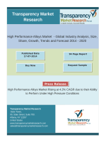 High Performance Alloys Market is Expected to Reach US$9.09 billion by 2020