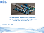 Electronic Adhesives Market Trends, Growths and Forecasts 2014 to 2021