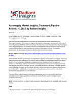 Acromegaly Market Insights, Causes, Size, Share, Trends, Pipeline Review, H1 2016 by Radiant Insights