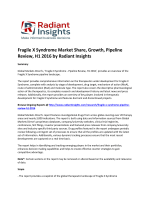 Fragile X Syndrome Market Insights, Causes, Trends and Growth, Pipeline Review, H1 2016: Radiant Insights