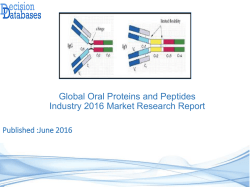 Global Oral Proteins and Peptides Market Forecasts to 2021