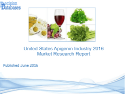 United States Apigenin Market Forecasts to 2021