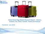 Read Travel Bags Market Size, Share, Growth, Segmentation's and Revenue Forecasts