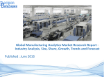 Manufacturing Analytics Market Trends, Growth Analysis and Forecasts