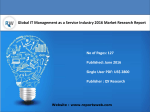 Global IT Management as a Service Industry Report Emerging Trends and Forecast 2021