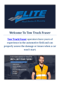 Tow Truck Fraser | Towing Company in Fraser, MI